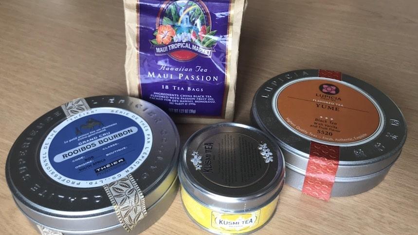 様々なブランドの紅茶4種類