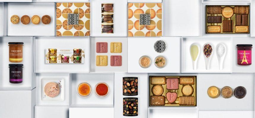 フォションのお菓子とロゴと紅茶